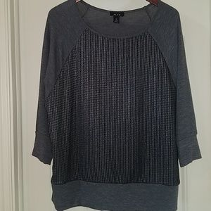 Alyx silver accented front blouse